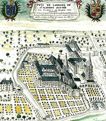 Abbaye Saint-Florent de Saumur en 1699 où est inhumé Thibaut de Blois