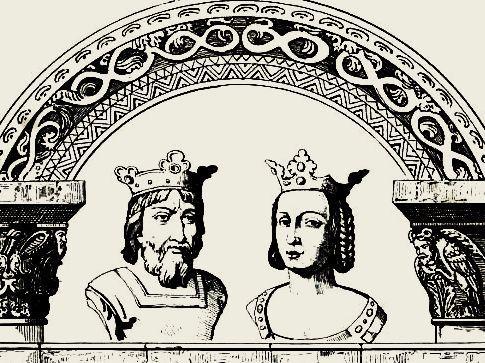 Hugues Capet et son épouse Adélaïde d'Aquitaine