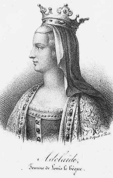 Adélaïde de Paris, sa seconde épouse