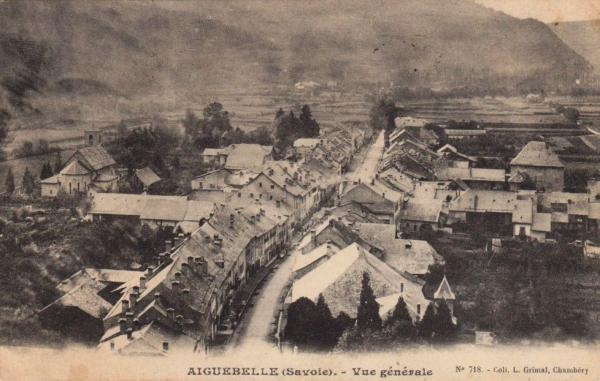 Aiguebelle (Savoie) Vue générale CPA