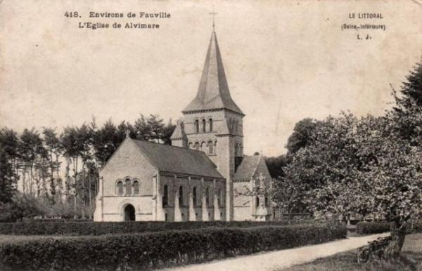Alvimare (Seine-Maritime) Eglise Notre-Dame de la Nativité CPA