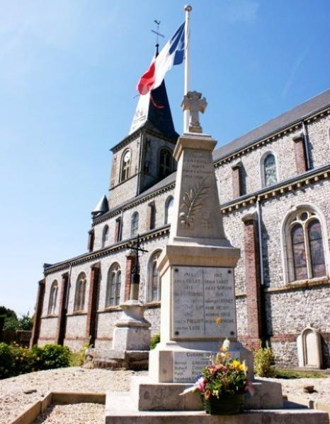Anvéville (Seine-Maritime) Eglise et monument aux morts