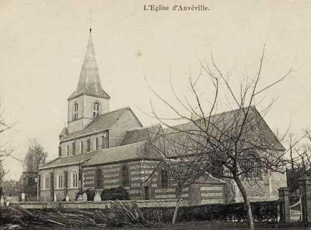 Anvéville (Seine-Maritime) Eglise Saint Pierre en 1904