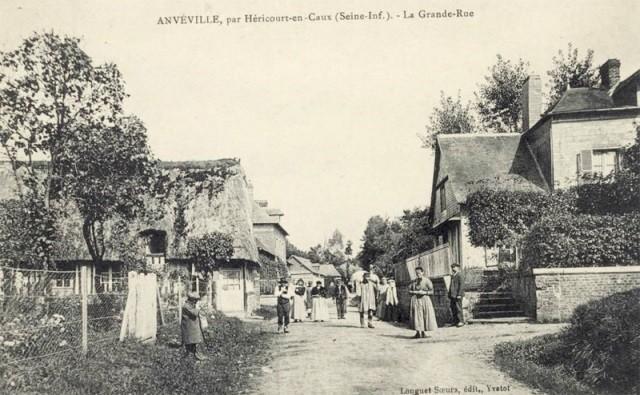 Anvéville (Seine-Maritime) Grande rue CPA