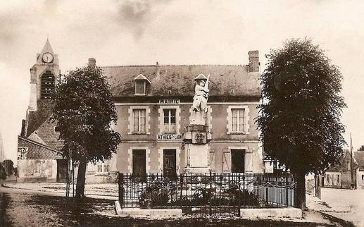 Athies-sous-Laon (Aisne) CPA mairie