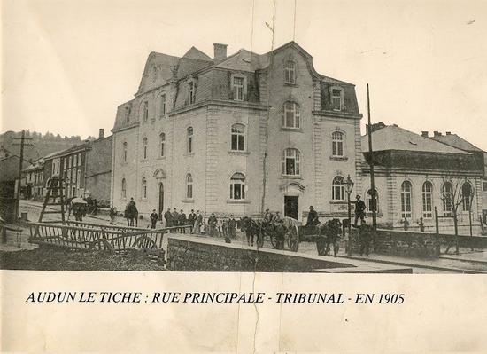 Audun-le-Tiche (Moselle) Le Tribunal en 1905 CPA