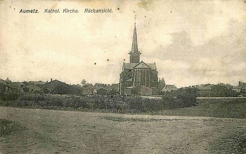 Aumetz (Moselle) L'ancienne église CPA