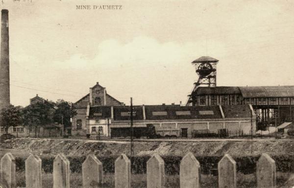 Aumetz (Moselle) La mine CPA