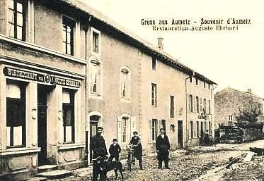 Aumetz (Moselle) Un restaurant CPA