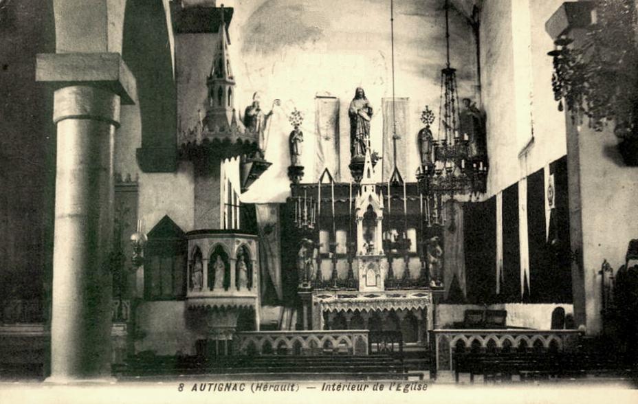 Autignac (Hérault) CPA L'église Saint Martin