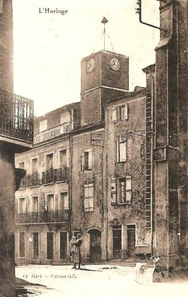 Autignac (Hérault) CPA L'horloge