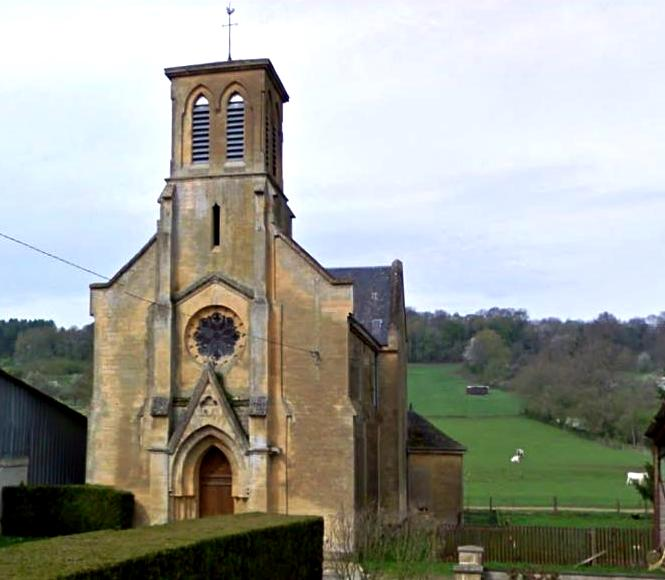 Autréville-Saint-Lambert (Meuse) L'église