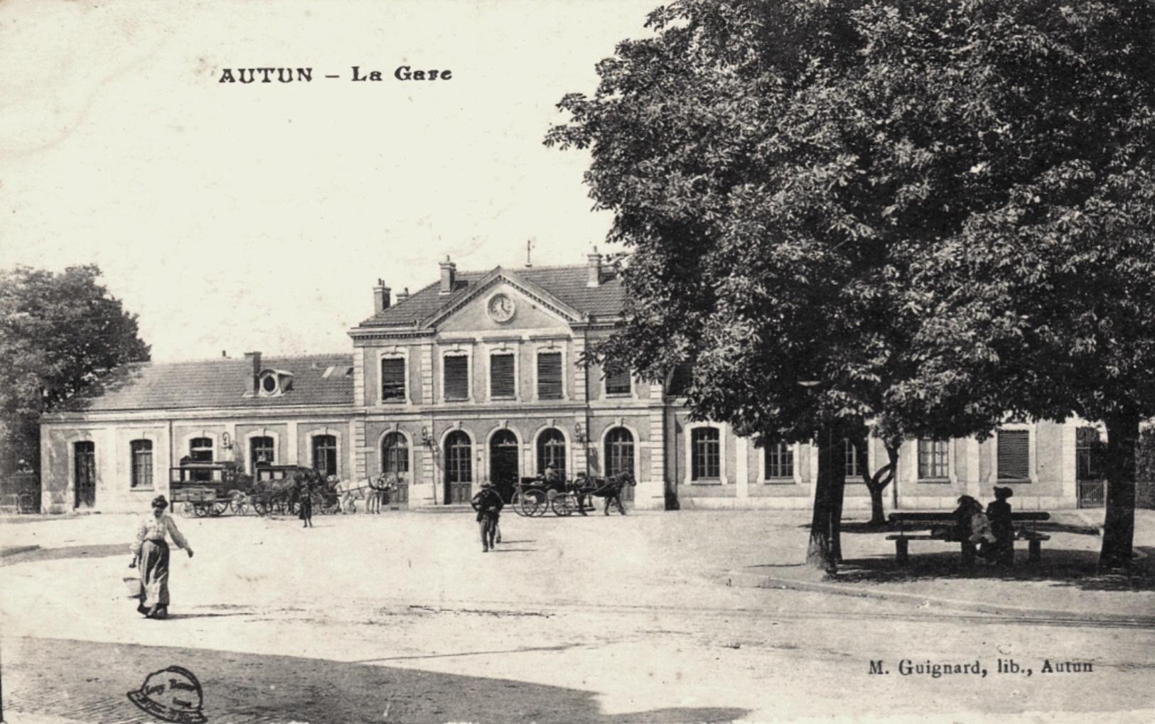 Autun (Saône-et-Loire) La Gare CPA