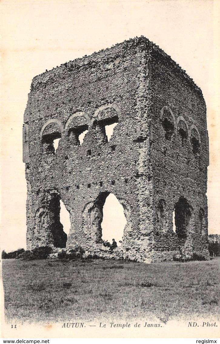 Autun (Saône-et-Loire) Le temple de Janus CPA