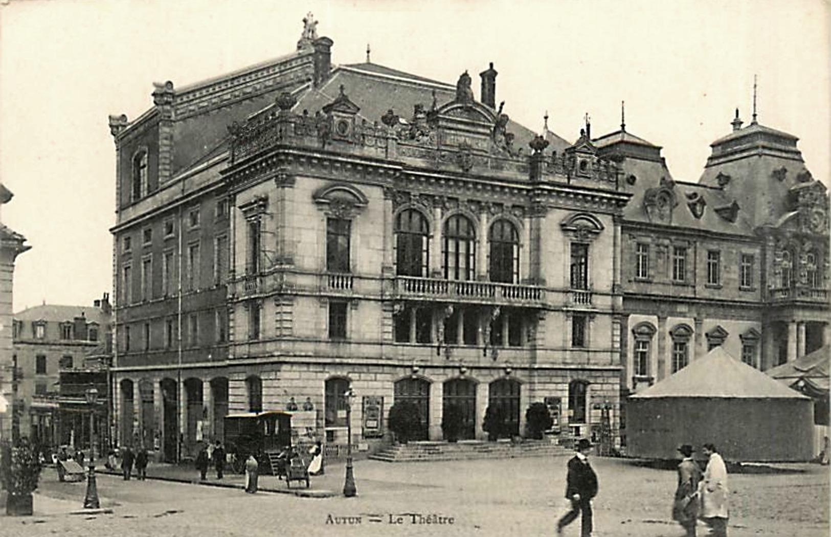 Autun (Saône-et-Loire) Le théâtre CPA