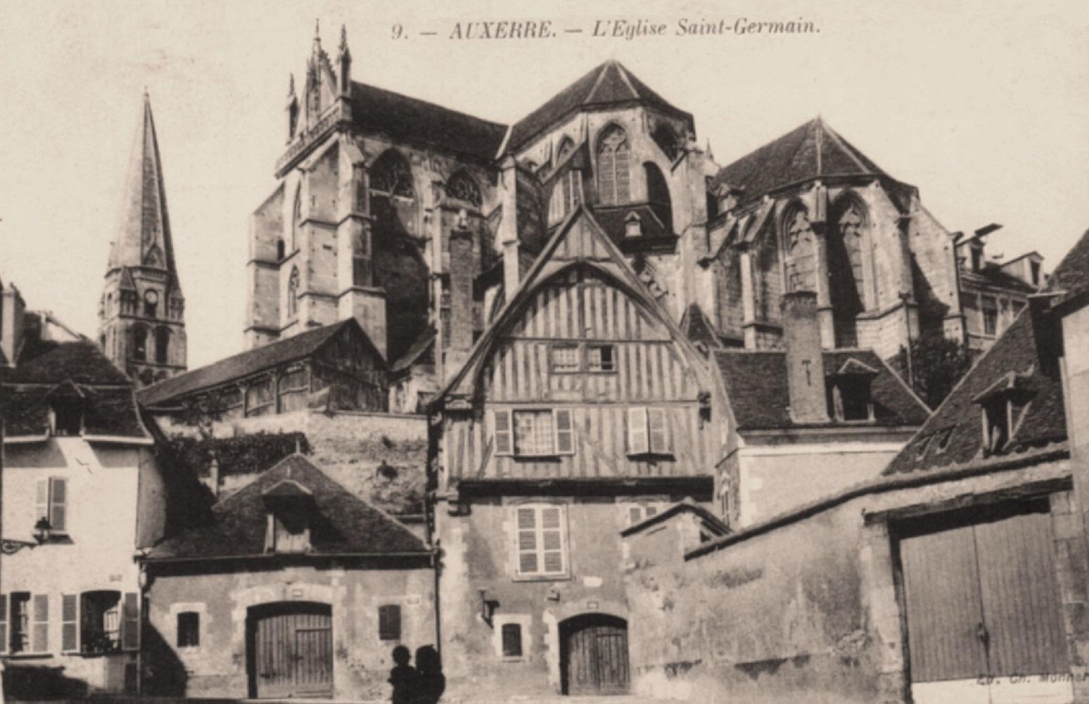 Auxerre (89) L'Abbaye Saint-Germain CPA
