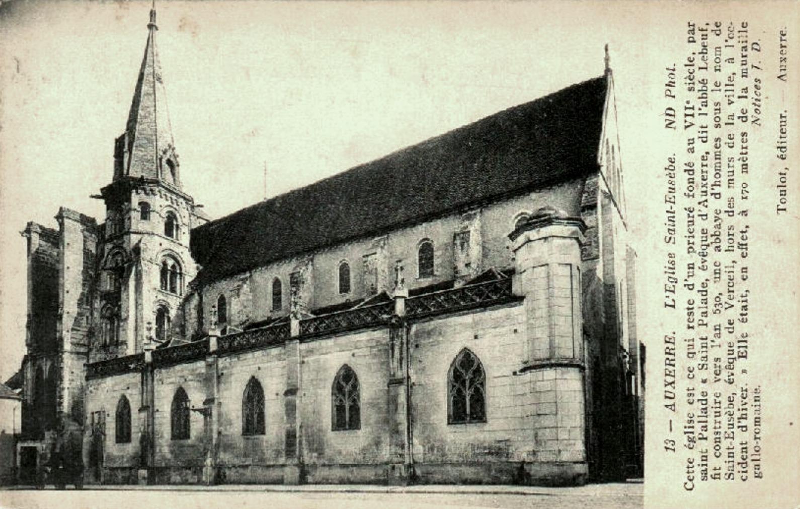 Auxerre (89) L'église Saint-Eusèbe CPA