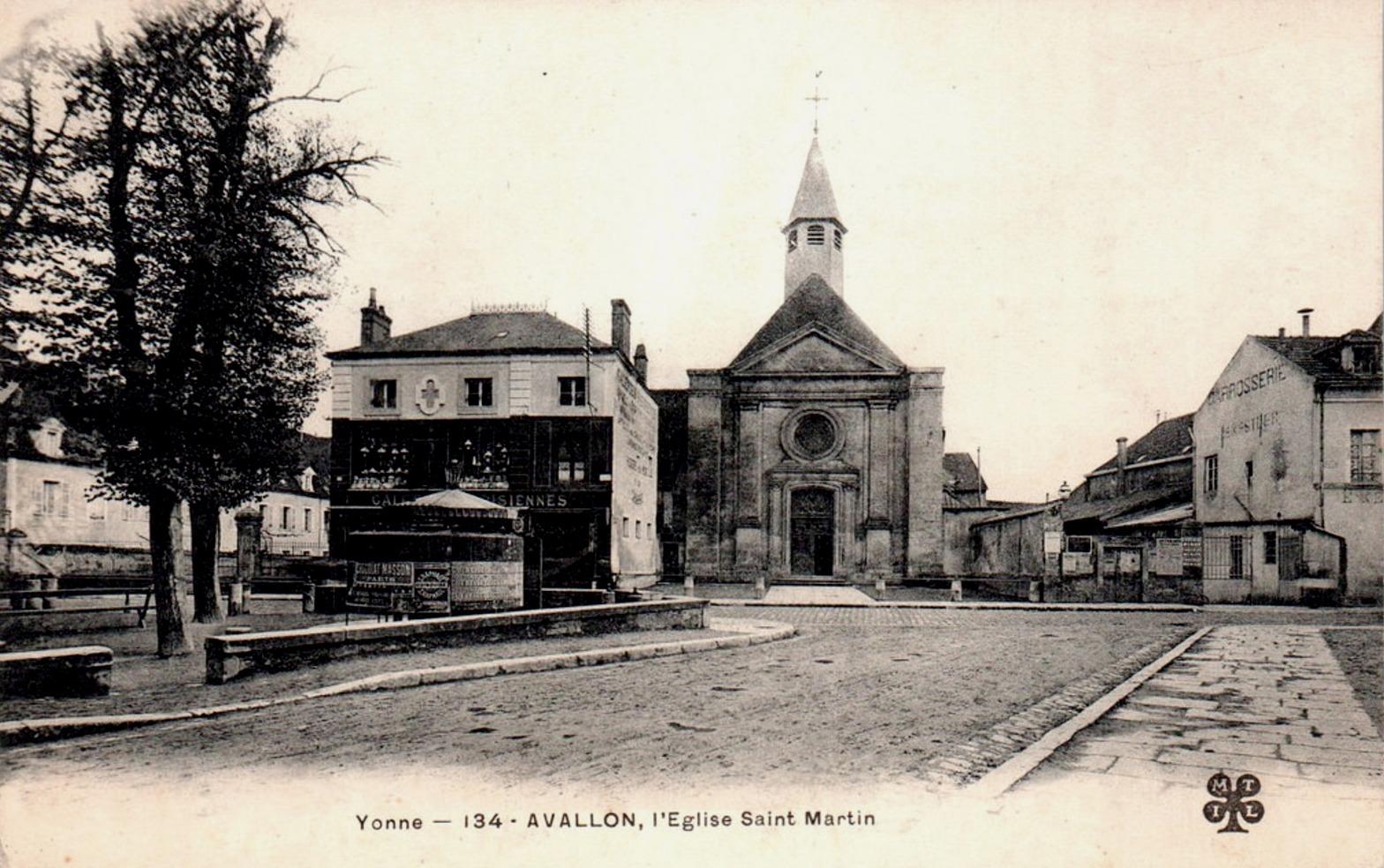 Avallon (89) L'Eglise Saint-Martin du Bourg CPA