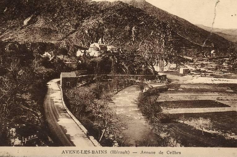 Avène (Hérault) La route de Ceilhes CPA