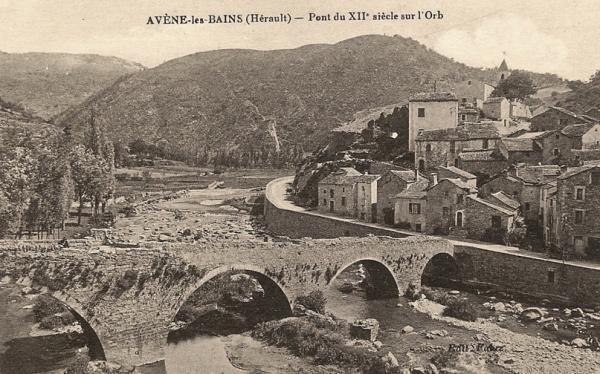Avène (Hérault) Le pont CPA