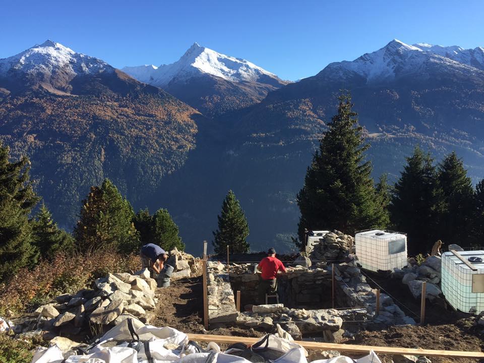 Avrieux (Savoie) Construction du télégraphe Chappe
