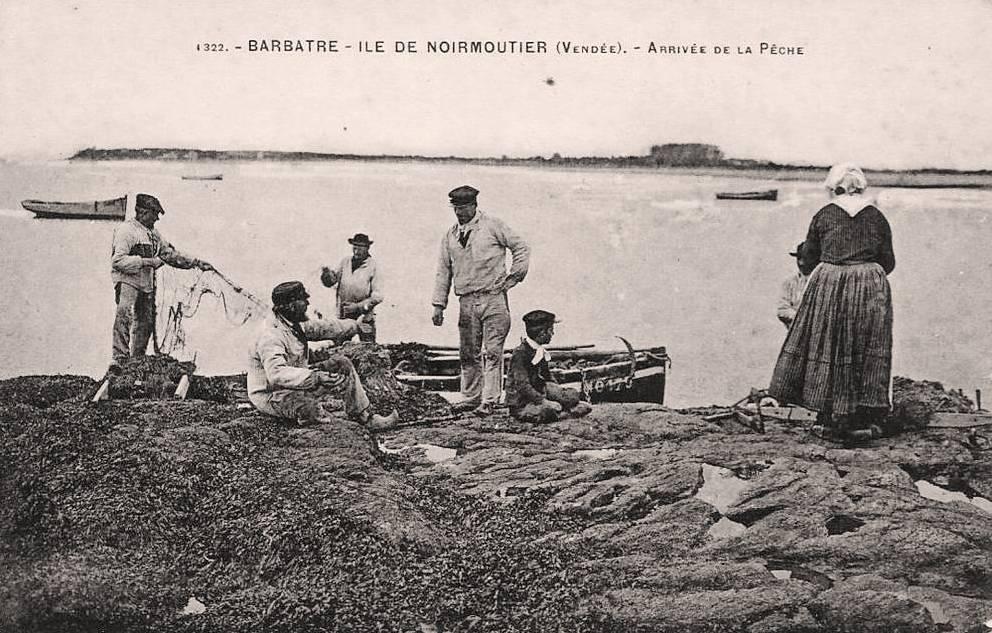 Barbâtre (Vendée) Arrivée de la pêche CPA