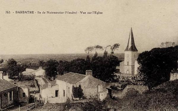 Barbâtre (Vendée) Eglise CPA