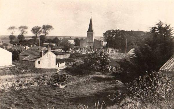 Barbâtre (Vendée) Eglise et cimetière CPA