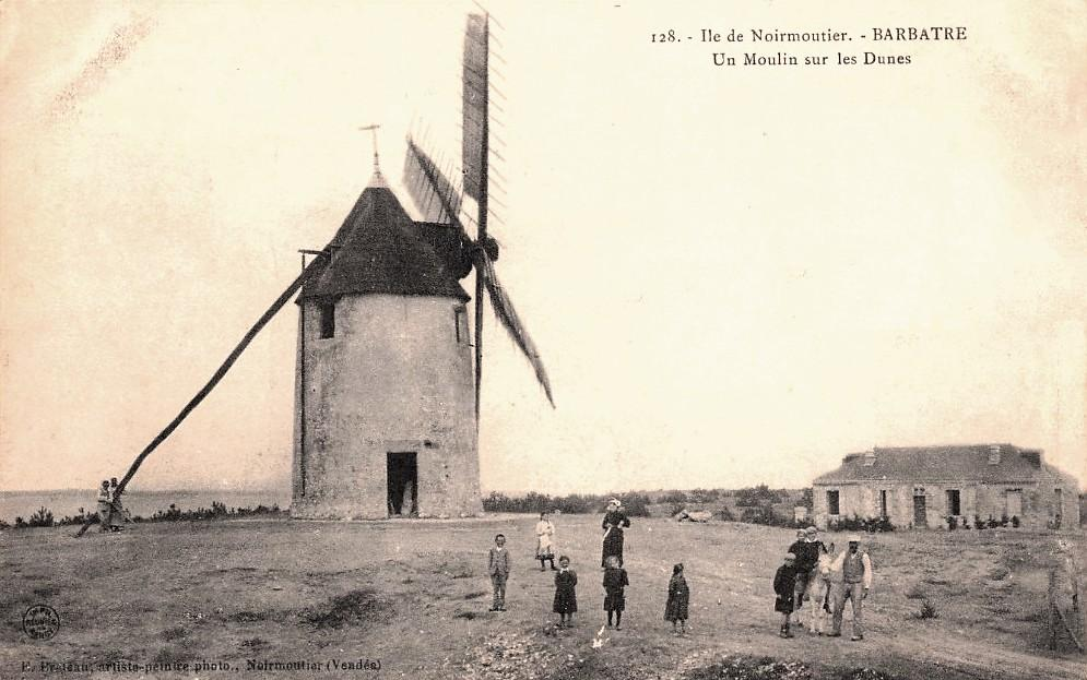 Barbâtre (Vendée) Moulin CPA