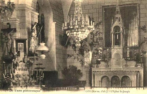 Barre (Tarn) CPA Gos, église Saint Joseph