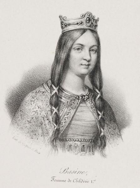 Basine de Thuringe, son épouse