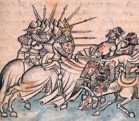 Rare représentation de la bataille de Tourtour en 973