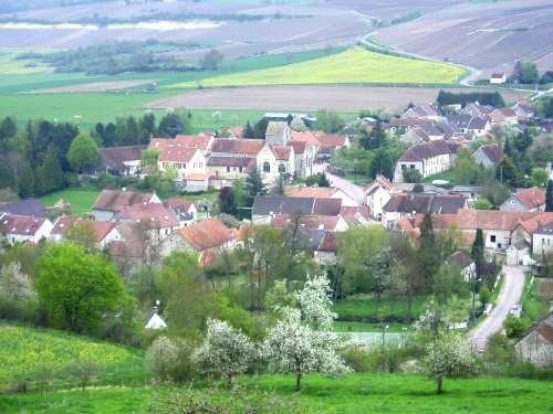 Baulne-en-Brie (Aisne) Vue générale