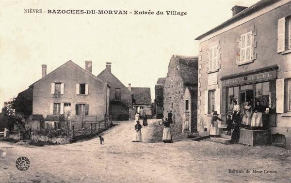 Bazoches (Nièvre) Le village CPA