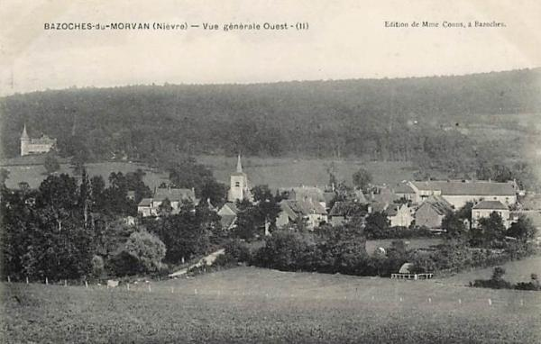 Bazoches (Nièvre) Vue générale CPA