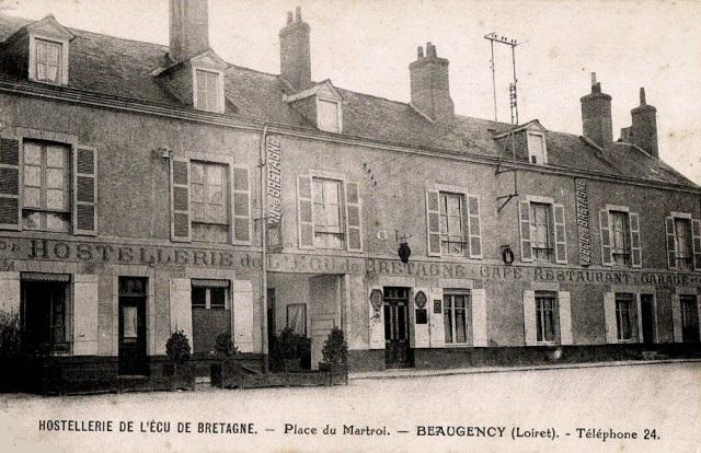 Beaugency (45) Hostellerie de l'Ecu de Bretagne CPA