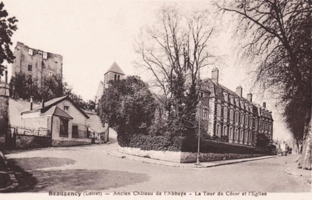 Beaugency (45) Tour César, château et église CPA