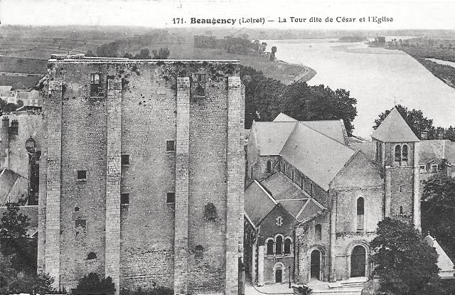 Beaugency (45) Tour César et église CPA
