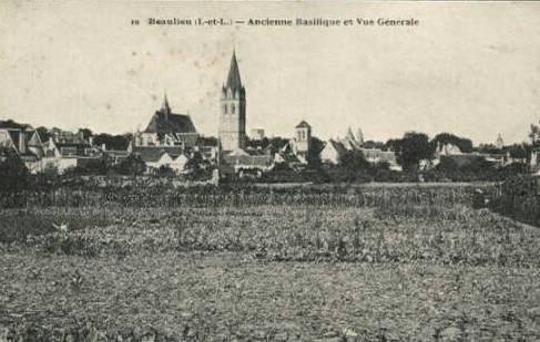 Beaulieu-lès-Loches (37) Vue générale CPA