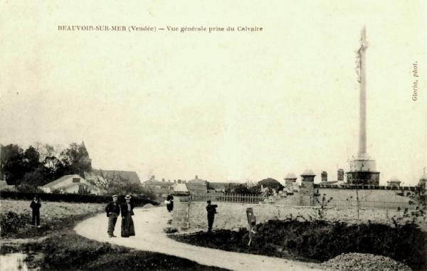 Beauvoir-sur-Mer (Vendée) Calvaire CPA
