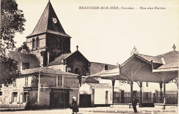 Beauvoir-sur-Mer (Vendée) Halles CPA