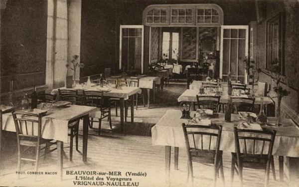 Beauvoir-sur-Mer (Vendée) Hôtel des voyageurs CPA