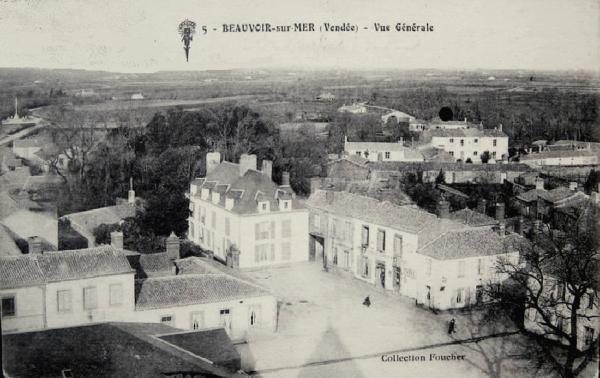 Beauvoir-sur-Mer (Vendée) Vue générale CPA