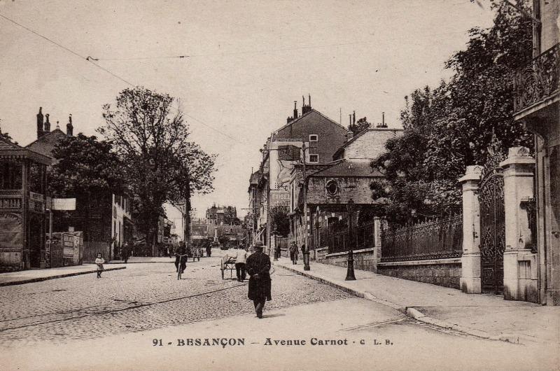 Besançon (Doubs) L'avenue Carnot CPA