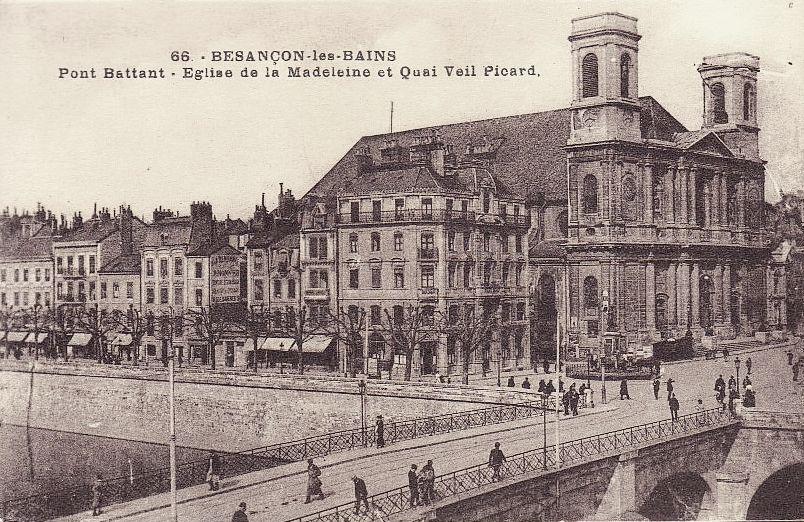 Besançon (Doubs) L'église de la Madeleine CPA