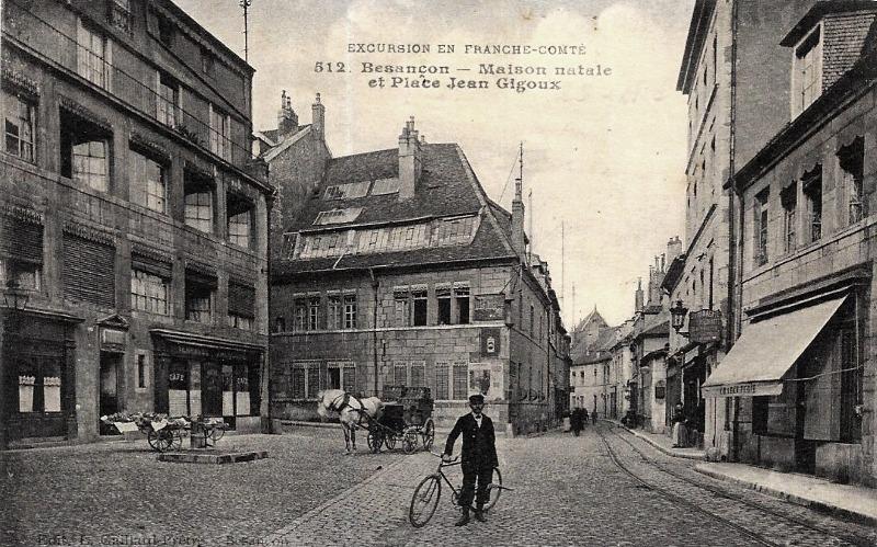 Besançon (Doubs) La maison natale Jean Gigoux CPA