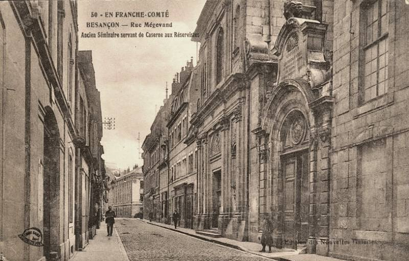 Besançon (Doubs) La rue Mégevand CPA