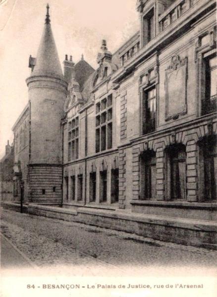 Besançon (Doubs) Le Palais de Justice CPA