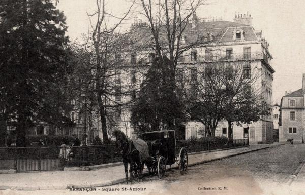 Besançon (Doubs) Le square Saint-Amour CPA