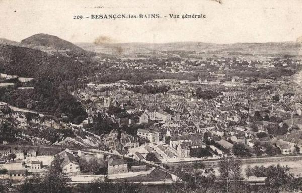 Besançon (Doubs) Vue générale CPA